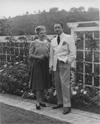 Anya & Harold Arlen outside their California home